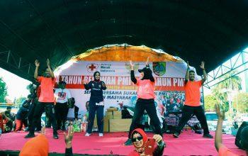 Akhiri Rangkaian Kegiatan Hari Sukarelawan PMI dan HUT PMI, dengan Senam Bersama