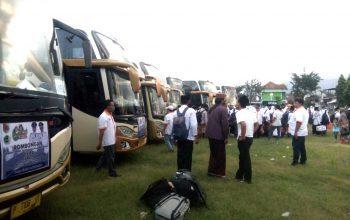 Dengan 6 Bus Fasilitas Pemkab Jember, Usai Rapid Test, 300 Santri Berangkat Menuju Ponpes Blokagung Banyuwangi